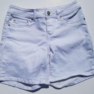 Seven7 white denim shorts